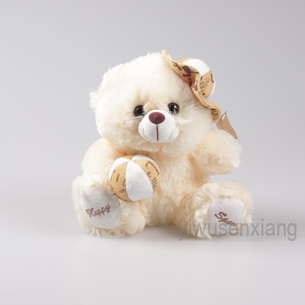 stuffed animal lovely white teddy bear plush toys nice gifts for children wholesale