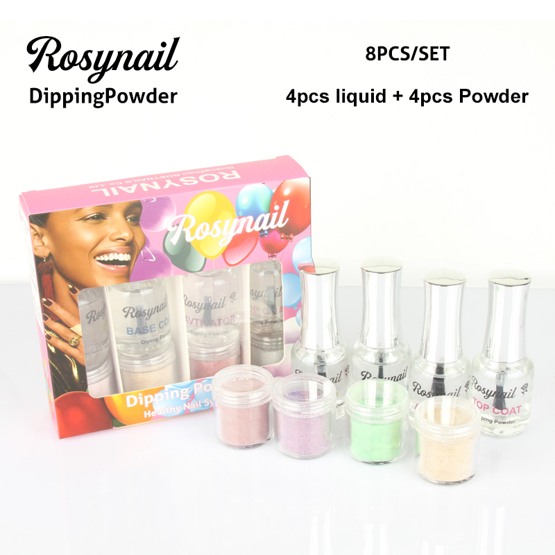2018 new arrivals trending products french tip dip powder color nail acrylic dipping powder liquid set