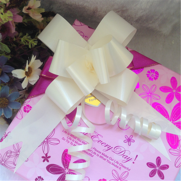 Promotional christmas solid white butterfly bow