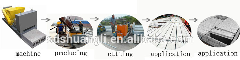 Precast concrete boundary wall making machine