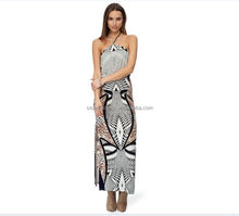 Zebra Printed Flora Printed Animal Bandeau Summer Off-Shoulder Sexy Ladies skirt with the pattern