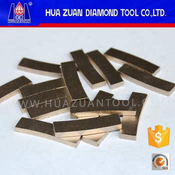 HUAZUAN hot-pressed diamond segment for marble cutting