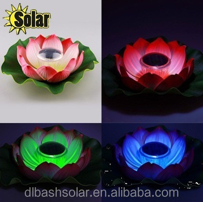 7 LED colors Solar Power Lotus Float Light Water Pool Lamp Flower Light