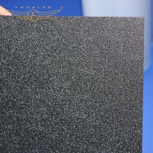vacuum forming sheet 2mm thickness solid black plastic abs sheet for trays