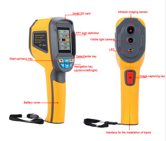 HT-002 Handheld auto Infrared thermal Image camera