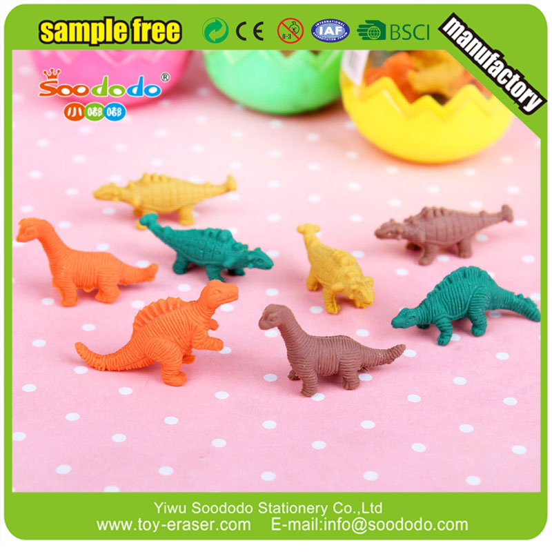 Novelty Mini Dragon Shaped Eraser in Dinosaur Egg Set