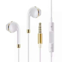 Top selling High quality universal 3.5mm metal pin electroplating earphone inear handsfree for iphone 5 6 6plus 6s 6s plus