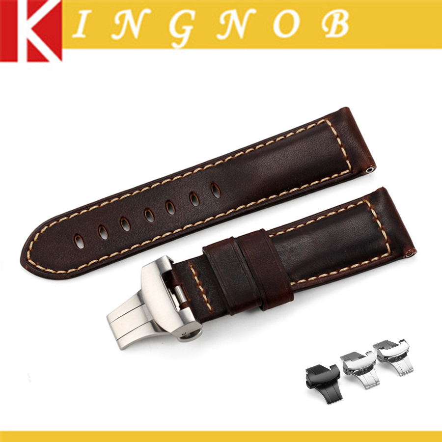 5 pcs - Genuine leather watch strap Handmade watch band for PANERAI Watches