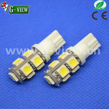 New led car light model, 12V T10 flashing bulb 9SMD 5050 ,turn tail reverse break parking light for car