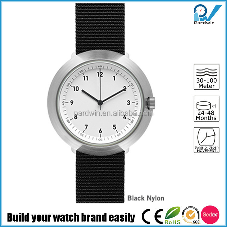 Brushed steel case stainless steel 3ATM water resistant japan movt quartz titanium watch