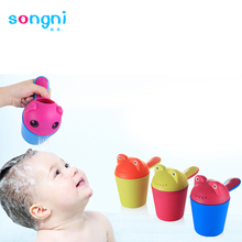 Hot Sales Bathroom plastic kids shampoo rinser cup