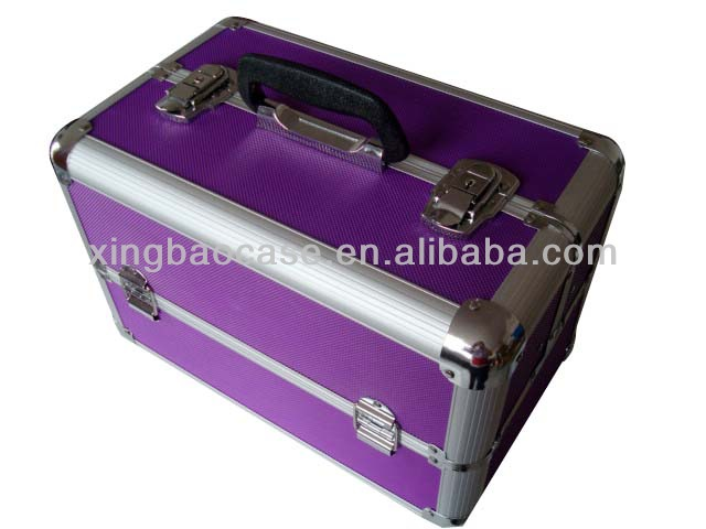 Aluminum cosmetic case,hardware tool case for household,hairdresser tool case