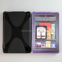 High quality Flexible Silicone Gel Tpu X Line Back Cover case for Amazon Kindle fire HD 7 inch china price