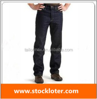 Cheap new design high quality wash men denim jeans overstock,14051319