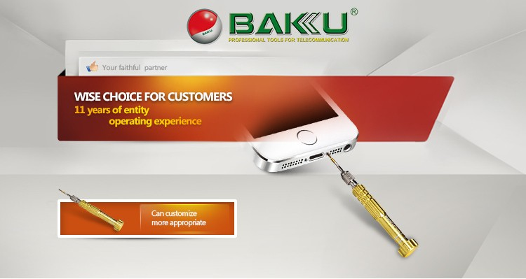 BK338 BAKU precision slotted triangle screwdriver for new apple notebook computer and iphone