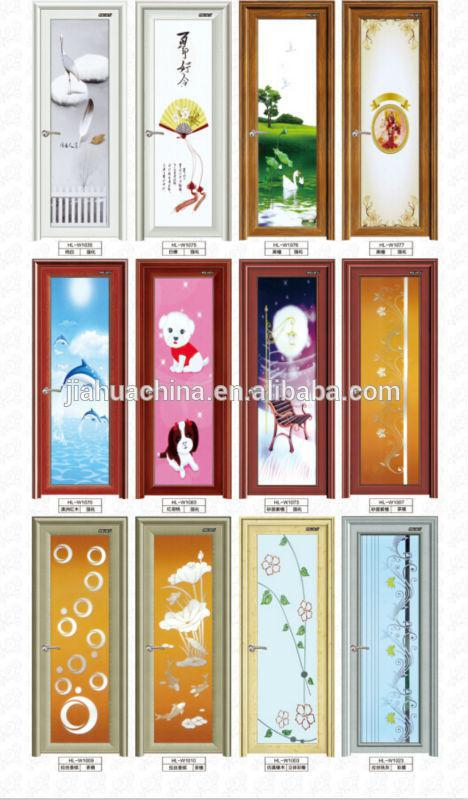 water proof pvc glass design aluminium bathroom doors design - Bathroom Doors Design