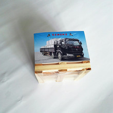 Customize Design Paper Cube, Sticky Note with Wooden Pallet, Memo Cube