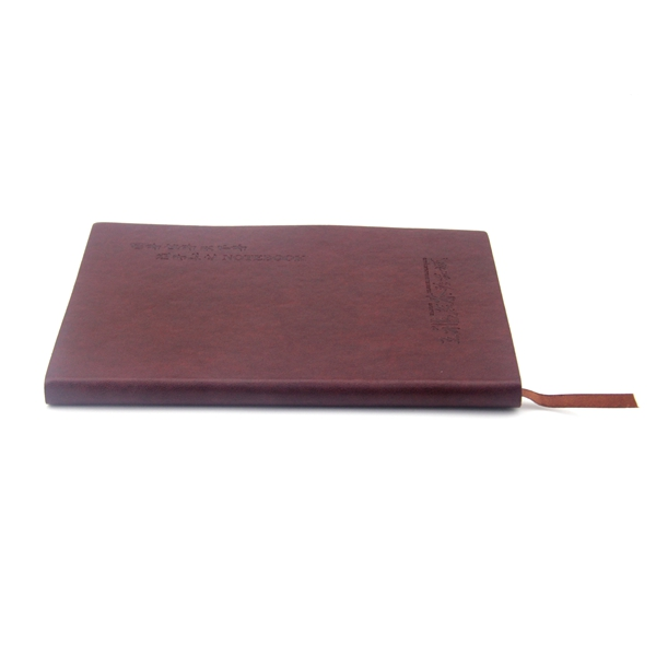 Custom design soft cover embossed logo leather notebook