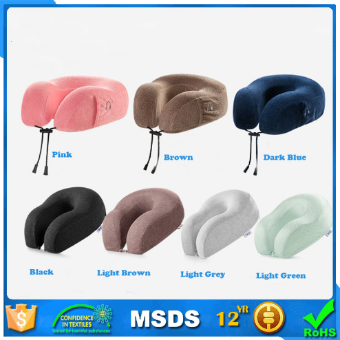 u shape cervical medical neck cushion inflatable custom travel pillow memory foam