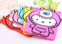 for ipad mini Mike kitty silicone case , for ipad mini 2 cute silicone case cover