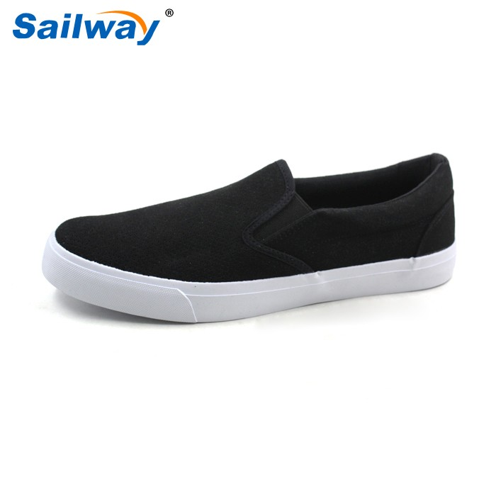 latest breathable slip on PU shoes for men