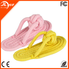 Strong pet cotton rope slippers toy, Pet chew toys,knot rope dog chew toy