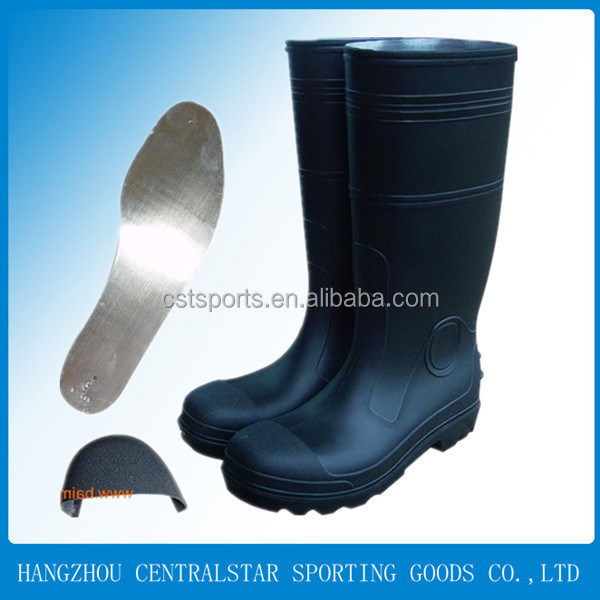 steel insole pvc safety boots 66714
