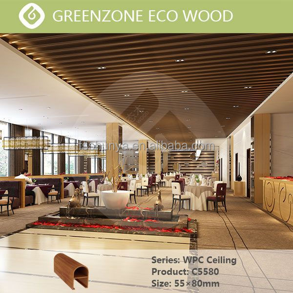 new technology types of ceiling materials decorative wpc ceiling strip wood ceiling