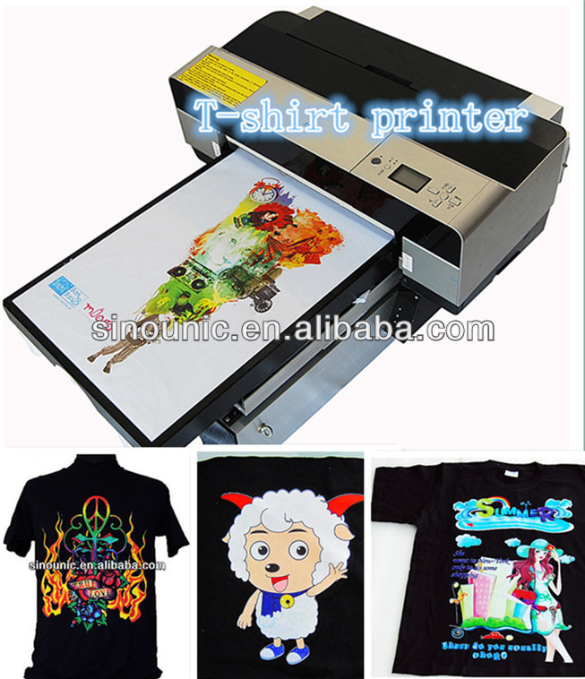 direct to garment printer/T-Shirt, Textile Printing Black and White DTG Garment Textile Tshirt Printer /Textile, Fabrics