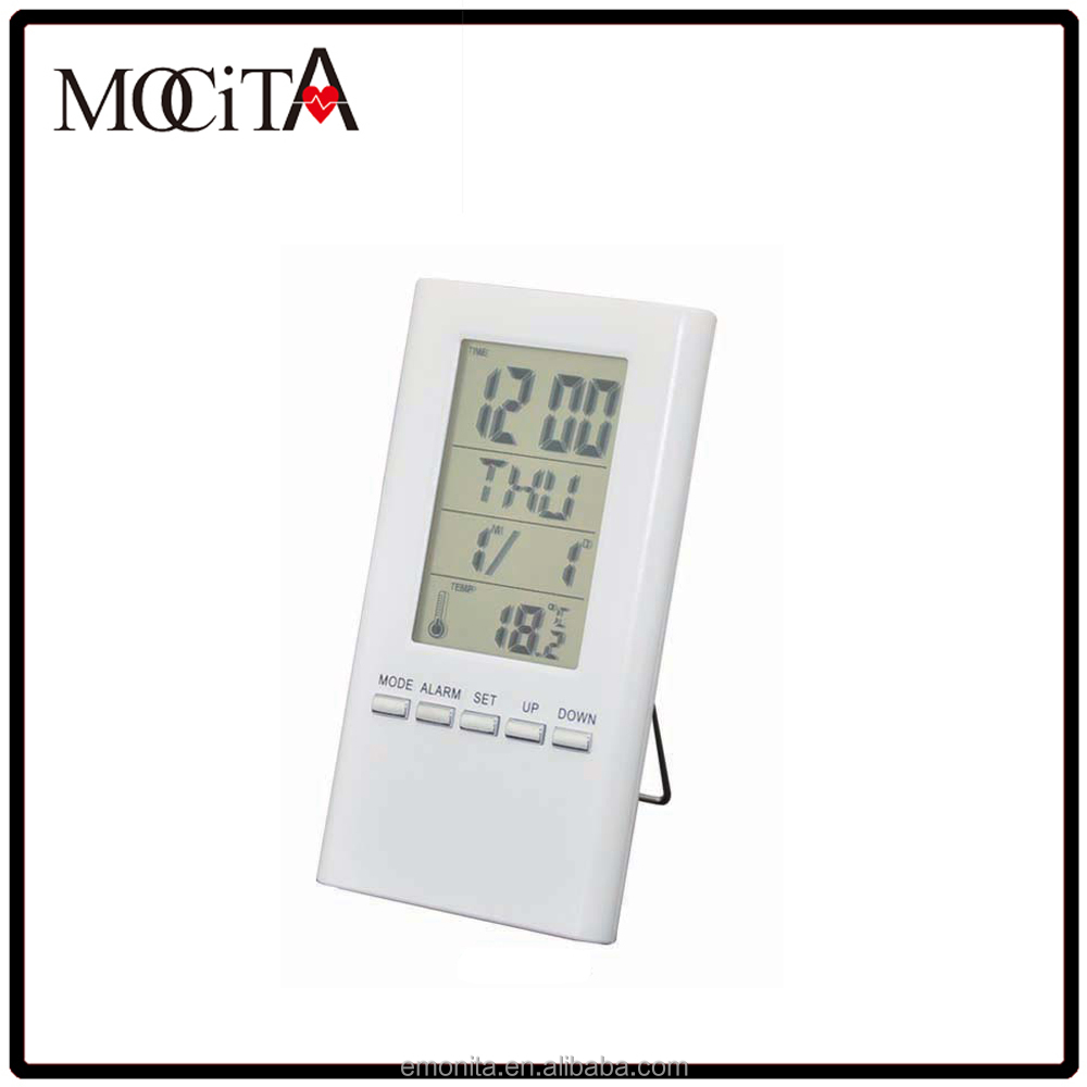 Auto Digital Alarm clock with temperature ,desk lcd clock with birthday reminder,Weather Station Clock