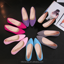 KS30454A Low Price Candy Color Women Suede Flats Female Loafers Shoes