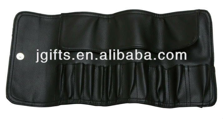 PU PVC Leather Cosmetic Fashional Promotional Ladies Make Up Brush Pouch