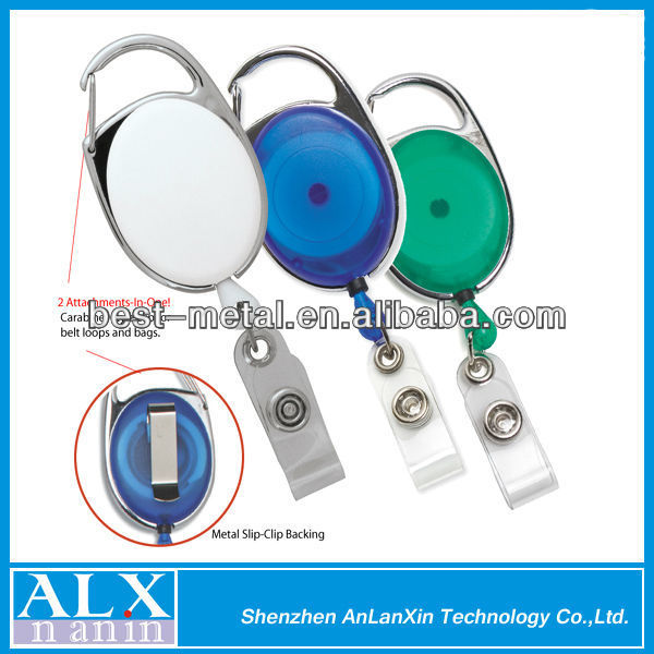 multi-style yoyo carabiner retractable badge reel/name card holder