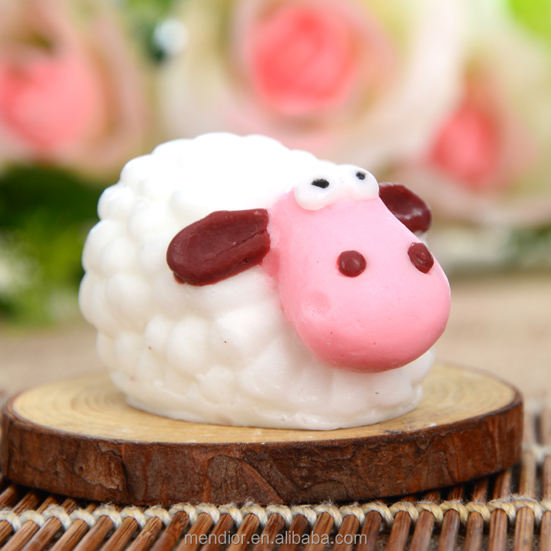 Mendior little sheep shaped soap Cartoon Shaun Baby Child's funny milk bath handmade soap OEM custom brand