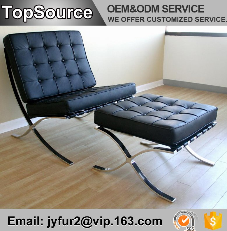 Living Room Furniture Modern Style Lounge Pavilion Chair Leather Barcelona Chair