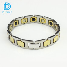 "7.9"" Adjustable Length Pure Tungsten Bracelet Germanium Magnetic Energy Bracelet"