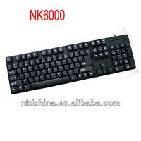 standard cheap wired computer keyboard