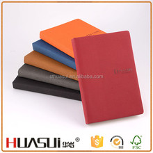 Good quality customized logo pu leather planner japanese notebook