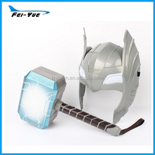 Wholesale superhero thor mask with lights Kids toy cosplay hammer