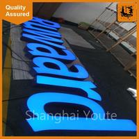 High quality 3d letter,rectangle shape light box with great price