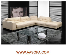 Custom made furniture white leather sectional sofa import