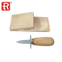 Hot sale High quality kitchen Sea food tools Wood-handle Stainless steel oyster knife