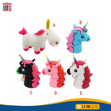 Real capacity cartoon unicorn usb flash drive horse pen drive 4G 8G 16G 32G flash memory stick