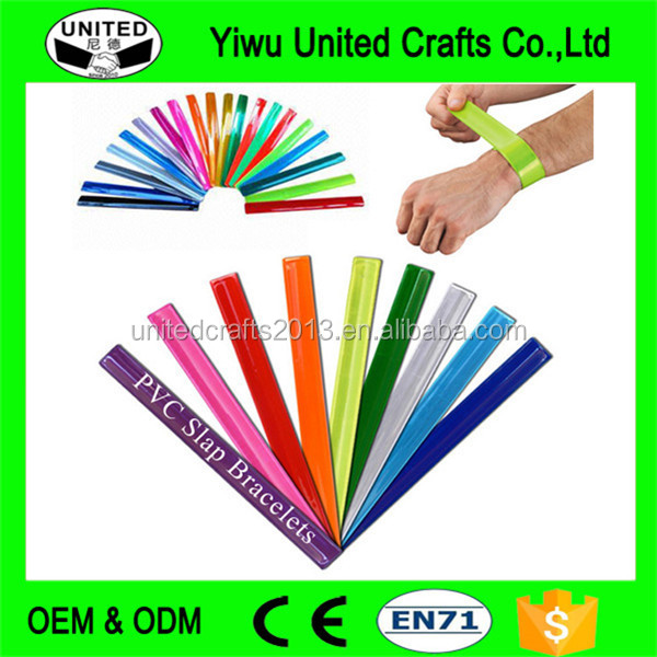 HIGH VISIBILITY ARM SNAP BANDS Fluorescent Safety RUNNING CYCLING Wrist Ankle