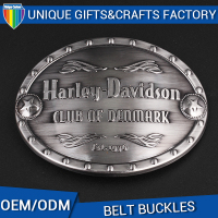TOP custom Metal silver oval belt buckle