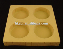 Innovation design organic flocking chocolate plastic Tray Food packaging
