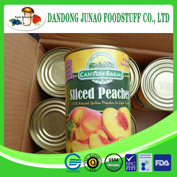 Delicious canned yellow peach sliced in syrup fruit export