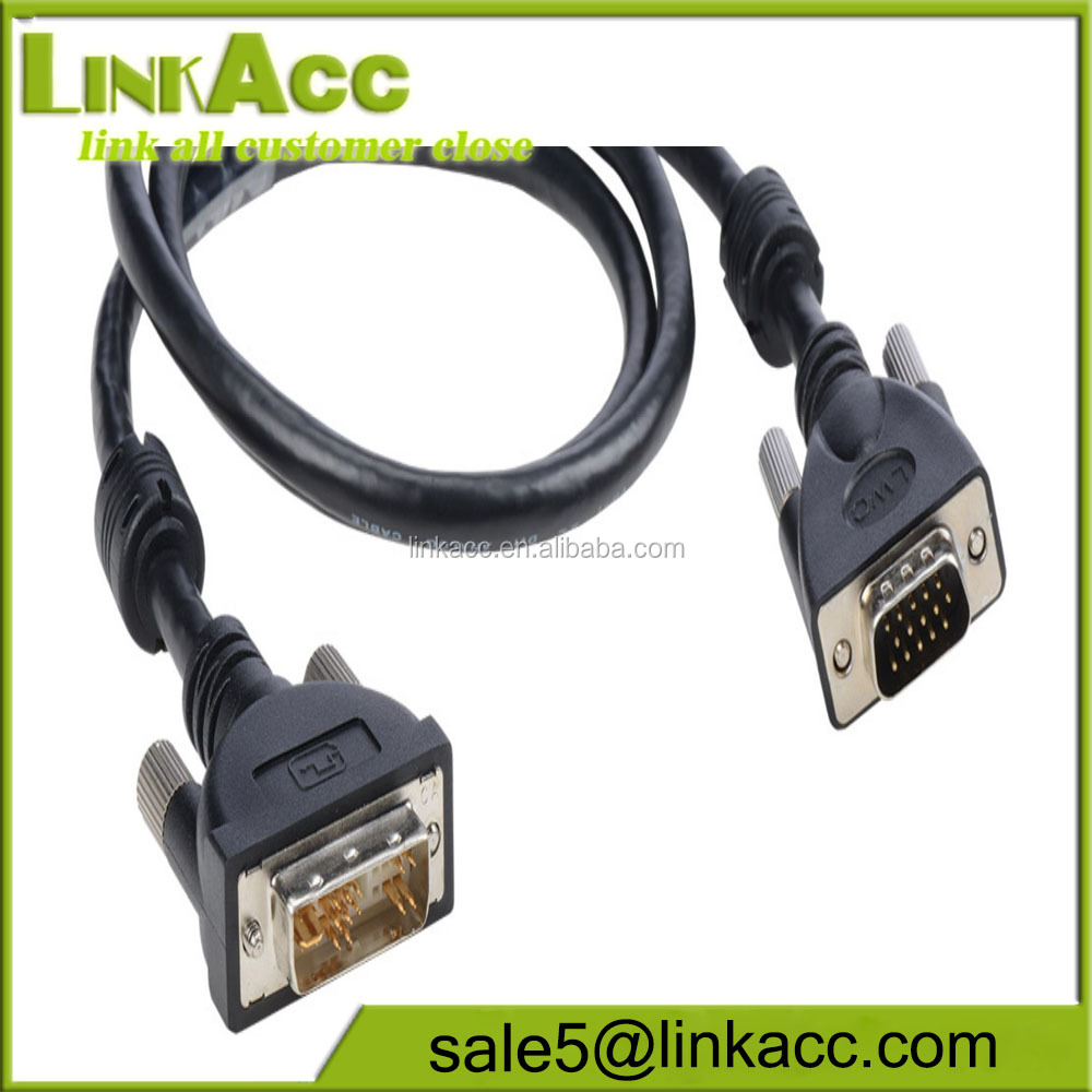 LKCL44 3' Liberty Premium Molded DVI Analog to VGA male cable