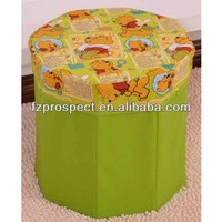 foldable storage ottoman/storage stool