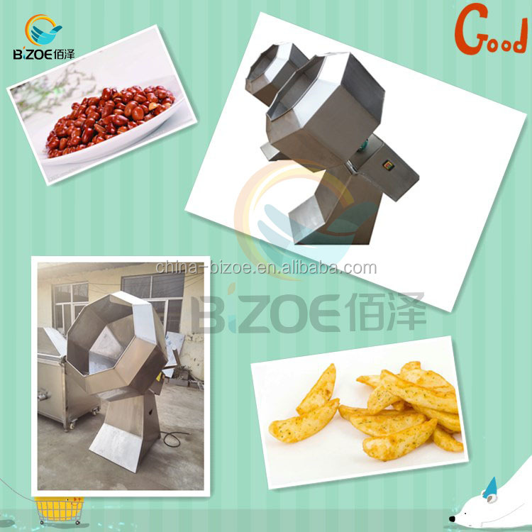 Frying Snacks Food Making Machine Good Quality Potato Chips Seasoning Machine From China